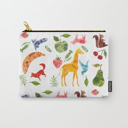 Animals and Fruit Repeat Carry-All Pouch