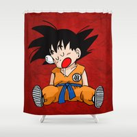 dragonball Shower Curtains featuring Sweet Dreams by TxzDesign