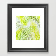 Painted Palm Fronds Framed Art Print