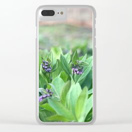 Virginia Bluebells Clear iPhone Case