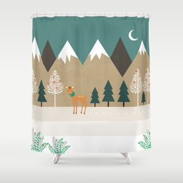Hello winter Shower Curtain