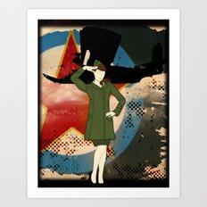 Army Girl Art Print