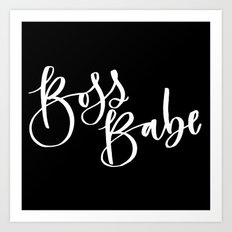Boss Babe Art Print