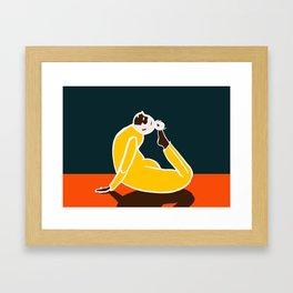 Yoga Cobra Framed Art Print