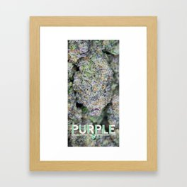 Purple Stalagmite Framed Art Print