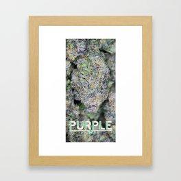 Purple Stalagmite Framed Art Print