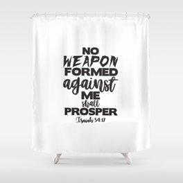 Isaiah 54:17 Shower Curtain