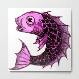 """William De Morgan """"Fantastic Animal - Fish"""" 3. Metal Print"""