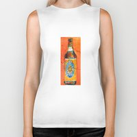 ale giorgini Biker Tanks featuring BEER ART - Oberon Ale by Dorrie Rifkin Watercolors