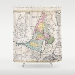 Old 1750 Historic State of Palestine Map Shower Curtain