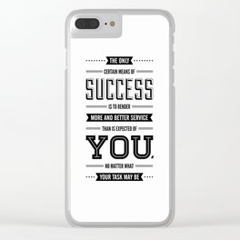 Lab No. 4 The Only Certain Og Mandino Inspirational Quotes Clear iPhone Case