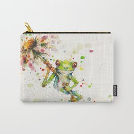 Hello There Bright Eyes (Green Tree Frog) Carry-All Pouch