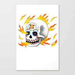 Mexicans on fire Canvas Print