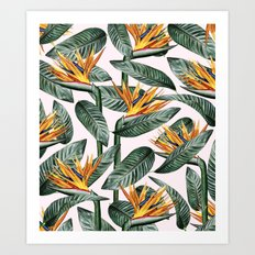Bird Of Paradise Pattern #society6 #decor #buyart Art Print