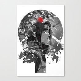 Snowfall Dark monochrome Canvas Print
