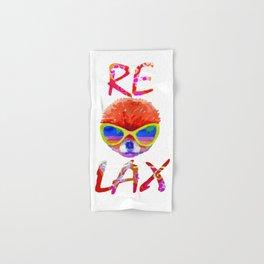 Relax - pomeranian in glasses Hand & Bath Towel