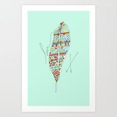 Love Feather Art Print