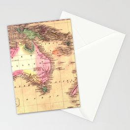 Map Of Australia 1828 Stationery Cards