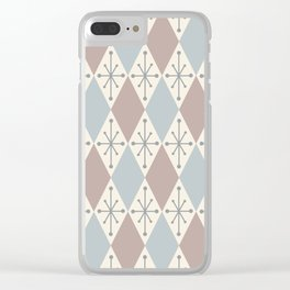 Diamonds and Starbursts Powder Clear iPhone Case