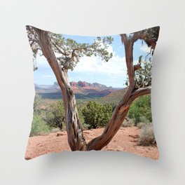 Arizona Horizon - Sedona Red Rocks Throw Pillow