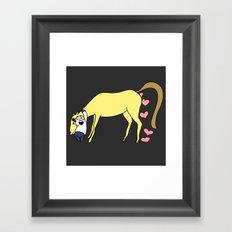 BB&PPINC Horse Hug - Charcoal Framed Art Print