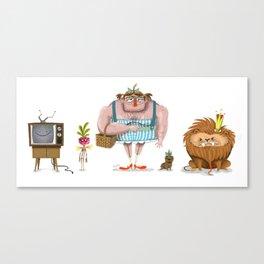 WOZ Character Lineup Canvas Print