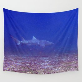 Watercolor Sealife Lemon Shark, Come a Little Closer! Wall Tapestry