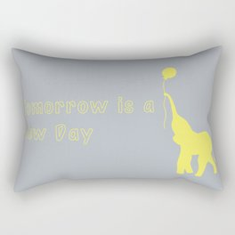 Elephant with Balloon: Tomorrow is a New Day Rectangular Pillow