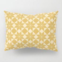 8 Point Star Pattern (Spicy Mustard on Pale Mustard) Pillow Sham