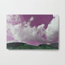 emerald hills purple skies Metal Print