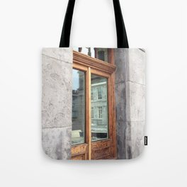 Old Montreal Wood Window Tote Bag