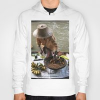 thailand Hoodies featuring woman in thailand by habish