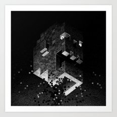 Drawlloween 2015: 8-Bit Zombie Art Print