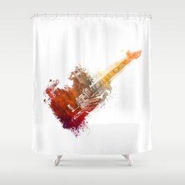Bass Guitar Shower Curtain