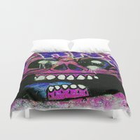 gnome Duvet Covers featuring GNOME by lucborell