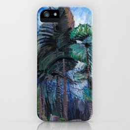 Emily Carr - Wind in the Tree Tops - Canada, Canadian Oil Painting - Group of Seven iPhone Case