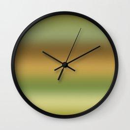 Tussock Green Smoke Wall Clock