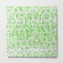 Snowflower Spring Green Metal Print
