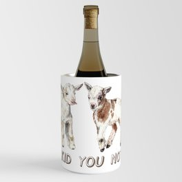 I Kid You Not: Baby Goat Watercolor Illustration Wine Chiller