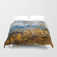 gore Duvet Covers featuring Colorado Autumn by AwakeningLight