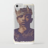 kendrick lamar iPhone & iPod Cases featuring King Kendrick by GerritakaJey
