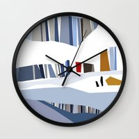 iceland Wall Clocks featuring iceland by frameless