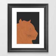 All lines lead to the...Inverted Tiger Framed Art Print
