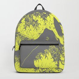 The Great Wave Yellow & Gray Backpack