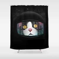 arnold Shower Curtains featuring It's Full of Stars! by FalcaoLucas