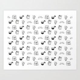 Cat Habits Art Print