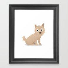Custom Cute Dog Illustration Framed Art Print