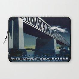 Vintage poster - Little Belt Bridge Laptop Sleeve