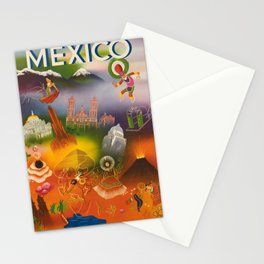 Plakat mexico direccion general de turismo Stationery Cards