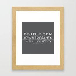 Bethlehem, Pennsylvania Framed Art Print